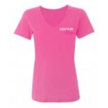 Hogue Grips Women V-Neck T-Shirt XX-Large Pink