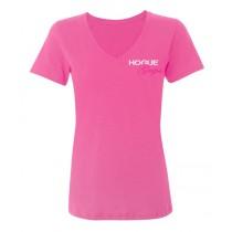 Hogue Grips Womens V-Neck T-Shirt (XX-Large) - Pink