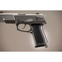 Ruger P85 - P91 Checkered Aluminum - Brushed Gloss Black Anodize