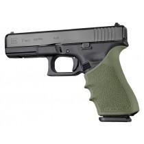 GLOCK 17, 18, 19X, 20, 21, 22, 24, 31, 34, 35, 40, 41, 45 (Gen 1-2-5): HandALL Beavertail Grip Sleeve - OD Green