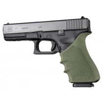 GLOCK 17, 18, 20, 21, 22, 24, 31, 34, 35, 37, 40, 41 (Gen 3-4): HandALL Beavertail Grip Sleeve - OD Green