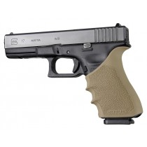 GLOCK 17, 18, 20, 21, 22, 24, 31, 34, 35, 37, 40, 41 (Gen 3-4): HandALL Beavertail Grip Sleeve - FDE