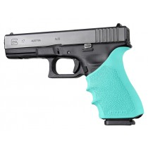 GLOCK 17, 18, 20, 21, 22, 24, 31, 34, 35, 37, 40, 41 (Gen 3-4): HandALL Beavertail Grip Sleeve - Aqua