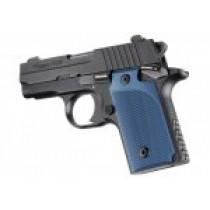SIG Sauer P238 Checkered Aluminum - Matte Blue Anodize