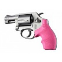 S&W J Frame Round Butt Rubber Bantam Style grip Pink