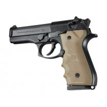 Beretta 92/96 Series Rubber Grip with Finger Grooves Flat Dark Earth