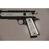 1911 Govt. Model 9/32 Thick Flames Aluminum - Clear Anodized