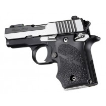 SIG Sauer P938 Ambi Safety Rubber Grip with Finger Grooves Black