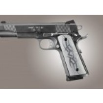 1911 Govt. Model S&A Mag Well Tribal Aluminum - Clear Anodized