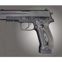 SIG Sauer P226 DA/SA Magrip Checkered G10 - G-Mascus Black/Gray
