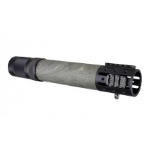 AR-15 / M16: (Rifle Length) OverMolded Free Float Forend with Accessory Attachments - Ghillie Green