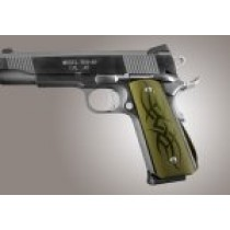1911 Govt. Aluminum Magrip Kit - Tribal Arched Matte Green