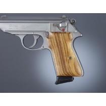 Walther PPK/S & PP: Smooth Hardwood Grip Panels - Goncalo Alves