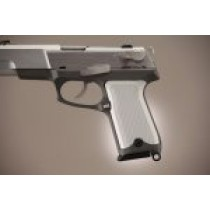 Ruger P85 - P91 Checkered Aluminum - Matte Clear Anodize