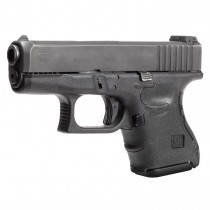 GLOCK 26, 27, 33, 39 (Gen 3): Wrapter Adhesive Grip - Black Rubber