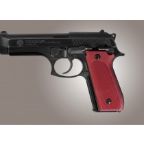 Taurus PT-99 PT-92 PT-100 PT-101 Safety Only Checkered Aluminum - Matte Red Anodize