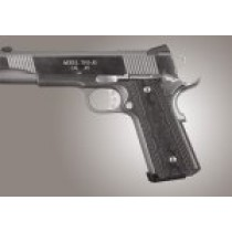 1911 Govt. G10 Magrip Kit - Checkered Flat Mainspring Black/Gray G-Mascus
