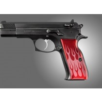TZ-75 - EAA. P9 Flames Aluminum - Red Anodize