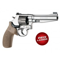 Red Laser Enhanced Monogrip for S&W K/L-Frame Round Butt: OverMolded Rubber - FDE