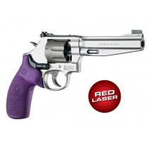 Red Laser Enhanced Monogrip for S&W K/L-Frame Round Butt: OverMolded Rubber - Purple