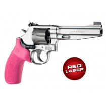 Red Laser Enhanced Monogrip for S&W K/L-Frame Round Butt: OverMolded Rubber - Pink