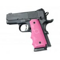 1911 Officers Model Rubber Grip with Finger Grooves Pink