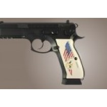 CZ 75 Scrimshaw Ivory Polymer - Eagle with Flag