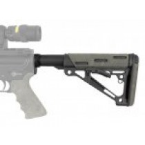 AR-15/M-16 OverMolded Collapsible Buttstock Assembly - Includes Mil-Spec Buffer Tube and Hardware - Ghillie Green Rubber