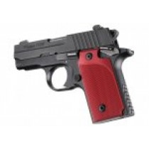 SIG Sauer P238 Checkered Aluminum - Matte Red Anodize