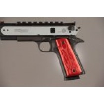 1911 Govt. Model 9/32 Thick Flames Aluminum - Red Anodized