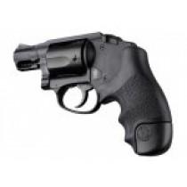 S&W J Frame Round Butt Centennial/Polymer Bodyguard Rubber Tamer Grip Black