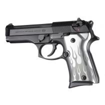 Beretta 92 Compact Flames Aluminum - Clear Anodize