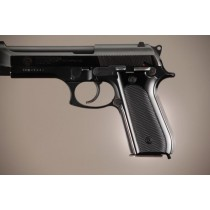 Taurus PT-99 PT-92 PT-100 PT-101 Safety Only Checkered Aluminum - Brushed Gloss Black Anodize