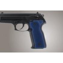 Beretta Cougar 8045 Checkered Aluminum - Matte Blue Anodize