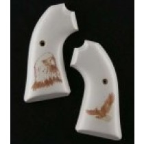 Ruger Bisley Scrimshaw Ivory Polymer - Eagle W/Talons