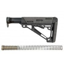 AR-15 / M16: OverMolded Collapsible Buttstock Assembly (Includes Mil-Spec Buffer Tube & Hardware) - Ghille Green