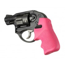 Ruger LCR/LCRx: Pink Rubber Tamer Cushion Grip with Finger Grooves