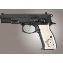 CZ 75 Scrimshaw Ivory Polymer - Double Aces