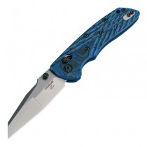 "Deka ABLE Lock Folder: 3.25"" Wharncliffe Blade - Tumbled Finish, G-Mascus Blue Lava G10 Frame"