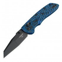 "Deka Manual Folder (MGE Exclusive): 3.25"" Wharncliffe Blade - Black Cerakote Finish, G-Mascus Blue Lava G10 Frame"