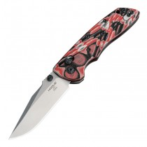 """Deka Manual Folder (KnifeCenter Exclusive): 3.25"""" Clip Point Blade - Tumbled Finish, G-Mascus Red Lava G10 Frame"""