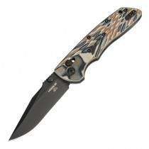 "Deka ABLE Lock Folder: 3.25"" Clip Point Blade - Black Cerakote Finish, G-Mascus Dark Earth G10 Frame"