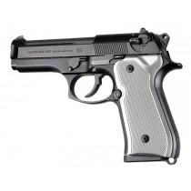 Beretta 92FS Checkered Aluminum - Brushed Gloss Clear Anodize