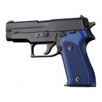 SIG Sauer P225 Checkered Aluminum - Matte Blue Anodize