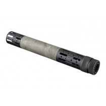 AR-15 / M16: (Extended Length) OverMolded Free Float Forend with Accessory Attachments - Ghillie Green