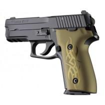 SIG Sauer P228 P229 DAK Tribal Aluminum - Green Anodize