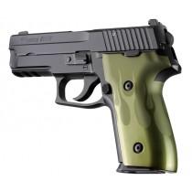 SIG Sauer P228 P229 DAK Flames Aluminum - Green Anodize