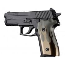 SIG Sauer P228 P229 DA/SA Flames Aluminum - Green Anodize