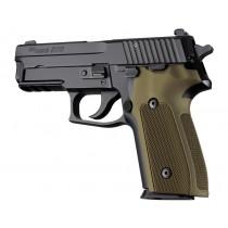 SIG Sauer P228 P229 DA/SA Checkered Aluminum - Matte Green Anodize