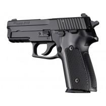 SIG Sauer P228 P229 DA/SA Checkered Aluminum - Brushed Gloss Black Anodize